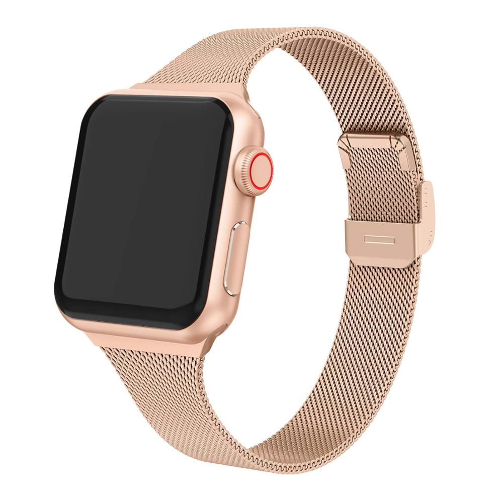 Strap For Milanese Loop Apple Watch Band 44mm 40mm Stainless Steel Metal Bracelet Correa Apple Watch 5 4 3 IWatch Band 42mm 38mm