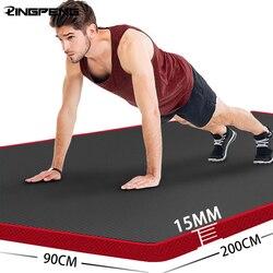 15 мм толщиной окантовка не скользит коврик для йоги высокое качество Пилатес здоровья для занятий фитнесом гимнастический коврик для медит...