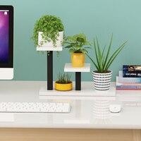 Iron Meat Flower Airs Balcony Shelf Indoor Office Desktop Mini Multi storey Botany Small Flower Rack