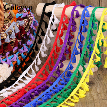 2Meter Colorful Cotton Tassels Lace Trims Edge Colthing Skirt DIY Sewing Crafts 4cm Width