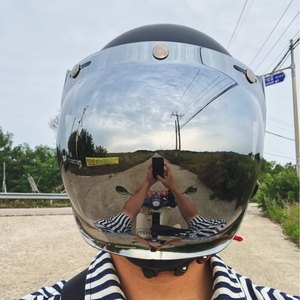 Image 5 - Ретро мотоциклетный шлем, Винтаж, Пузырьковые линзы, струйный пилотный шлем, козырек, мотоциклетный шлем, шлемы, Пузырьковые козырьки, очки