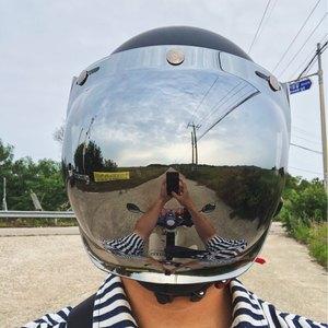 Image 5 - Viseira vintage para capacete de motocicleta, viseira retrô vintage para capacete, jato, moto, scooter, viseira bolha