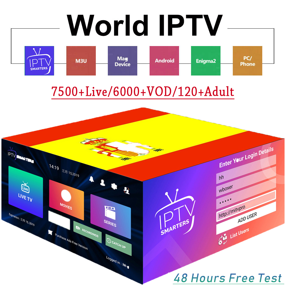 FHD World IPTV 7500+ Live 6000 VOD Channel Best For Europe Arabic Asian Africa Latino America Android M3U IPTV Xxx Subscription