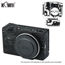 Anti Scratch korpus aparatu skórzany pokrowiec Protector Film dla Sigma FP lustrzany pełnoklatkowy aparat cyfrowy 3M naklejka cień czarny