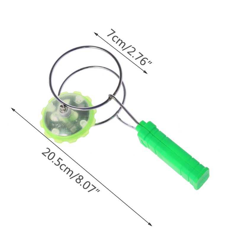 Giroscópio magnético roda mágica girando led colorido luz gyro yoyo brinquedos crianças presentes y4ud