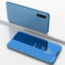 עבור iPhone XS Max XR X כיסוי תצוגה ברורה עור מפוצל Kickstand Flip כיסוי מראה מקרה עבור Iphone 11 6 6s 5S 7 8 בתוספת SE 2020 מקרה