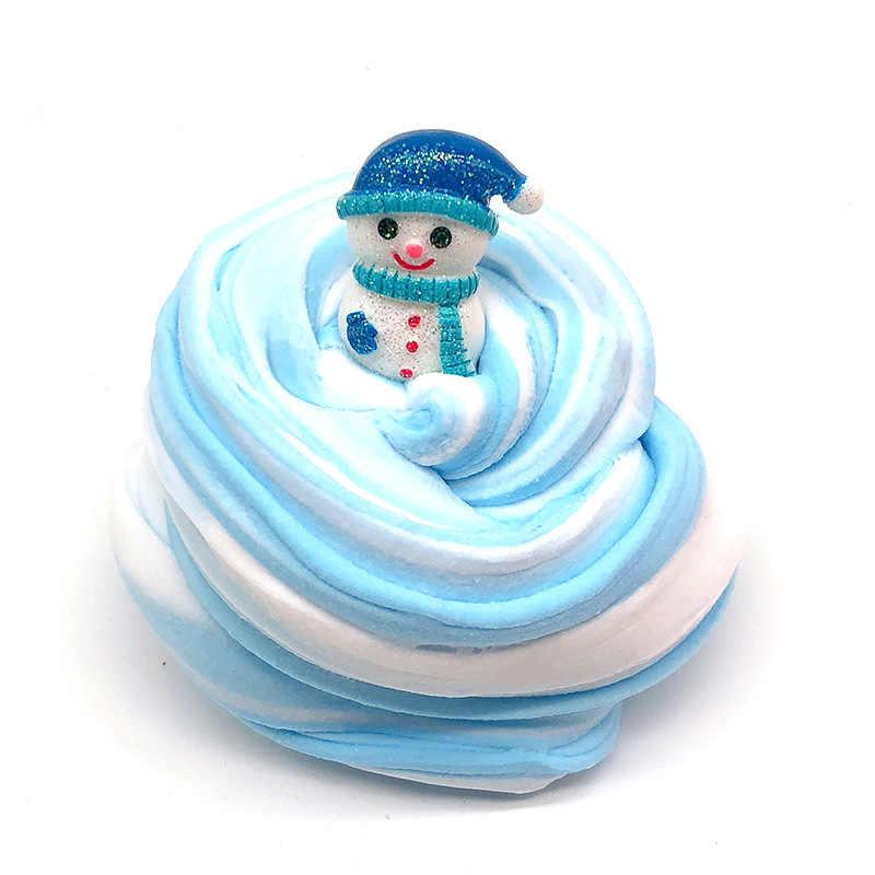 Crianças DIY Brinquedos de Natal Fofo Suprimentos Argila Luz Plasticina Playdough Massa Macia Lizun Slime Slime Encantos Goma Argila Do Polímero Um