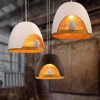 Nordic LED Pendant Lights Resin Bird Cage Hanging Lamp Bird Lamp for Living Room Bedroom Pendant Lamp Home Decor Light Fixtures