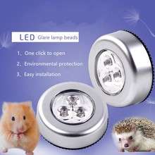1PC 3 LED Battery Powered Wireless Night Light Stick Tap Touch Push Security Closet Cabinet Kitchen Wall Lamp Kids Nursery Toy