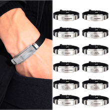 Men's Stainless Steel Silicone Alert Id Bracelets & Bangles Type 1/2 Diabetes Epilepsy Alzheimer'S Emergency Jewelry