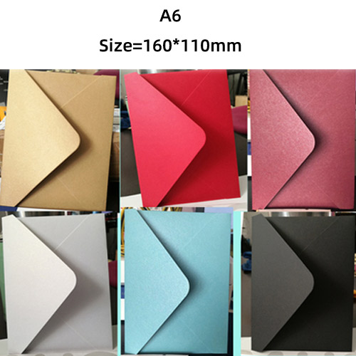 (10 Pieces / Lot) 160 * 110mm A6 16cm * 11cm Small Greeting Card Name Card Envelope Premium Pearlescent Paper Envelopes