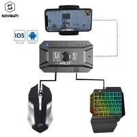 携帯電話用のPubgゲームコントローラー,Bluetooth対応のAndroid/iOSアダプターと互換性のあるゲームキーボードとマウスコンバーター