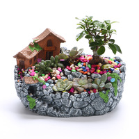 Plant pot creative resin pot gardening pots and baskets succulent flower pot planters garden farmhouse home decor dropshipping