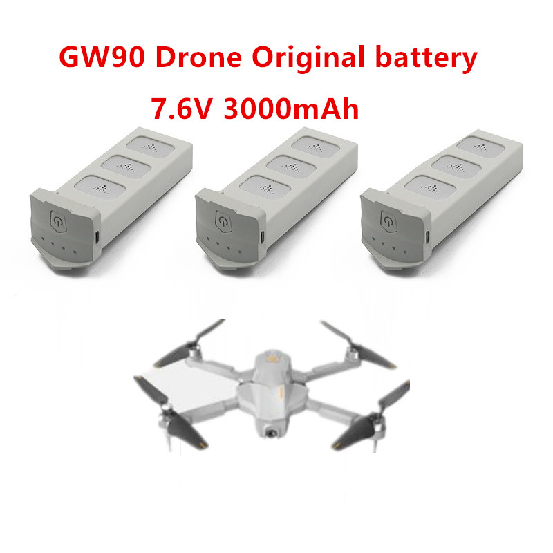 Global Drone GW90  Drone Battery  7.6V 3000mAh High-Voltage Lithium Battery Original Battery 1pcs 2pcs 3pcs