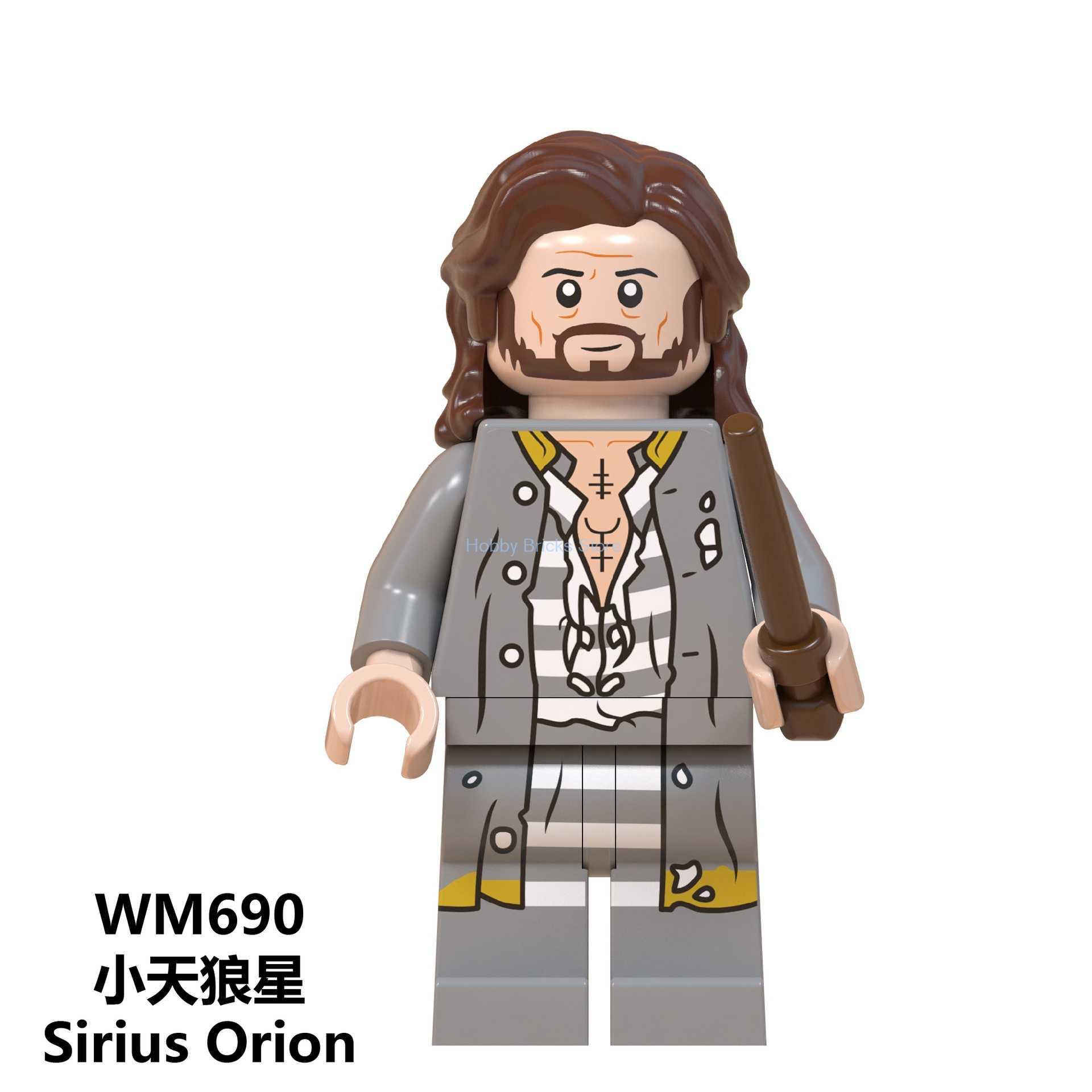 Magia Sirius Orion negro Harri Dobby Malfoy Dumbledore Minerva McGonagall Snape Hagrid bloques de construcción de juguetes para los niños