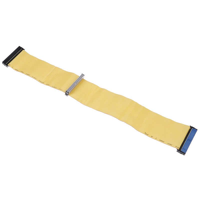 40 ピン 80 ワイヤー pata/eide/ide ハードドライブ dvd リボンケーブル黄色 40 センチメートルデュアルデバイステレコム部品