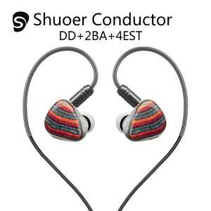 Shuoer Conductor Electrostatic DD+2BA+4EST Tribrid Flagship In-Ear Hifi Monitor DJ Studio