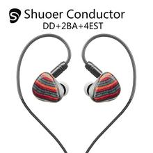 Shuoer Conductor Electrostatic DD+2BA+4EST Tribrid Flagship In-Ear Hifi Monitor DJ Studio Audiophile