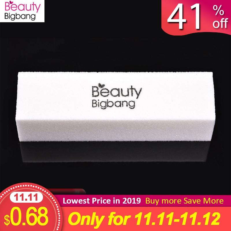 BeautyBigBang 2PCS 9cm White Sanding Sponge Nail File Buffer Block For Nail Polish Gel Nail Art Manicure White Nail Buffers File