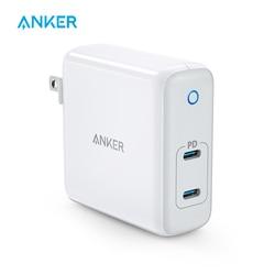 Anker 60W 2-Port USB C Caricatore, powerPort Atom PD 2 [GAN Tech] Compatto Pieghevole del Caricatore Della Parete, Erogazione di Potenza per MacBook Pro