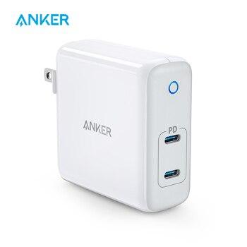 Anker 60W 2-portowa ładowarka USB C, PowerPort Atom PD 2 [GAN Tech] kompaktowa składana ładowarka ścienna, zasilanie dla MacBook Pro