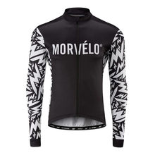 Morvelo Winter Cycle tops Granular Thermal Fleece Bicycle Long Sleeve Cycling Jersey Men Clothing Pro Team Bike maillot Ciclismo(China)