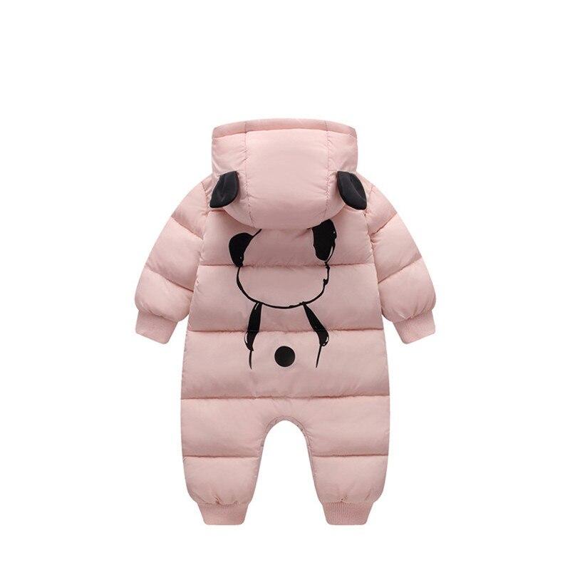Baby jumpsuit down jacket Newborn Baby Boy Girl Cartoon Winter Warm Thick Jumpsuit Hooded Coat Outwear #4AA22 (13)