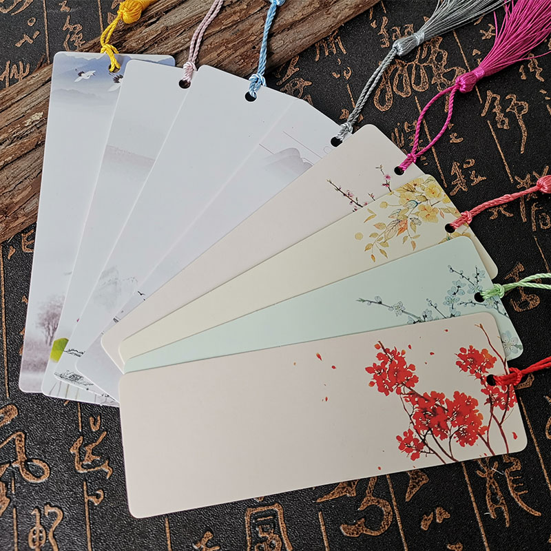 Bookmark Calligraphy Paper Handwritten Watercolor Hand-painted Card Creative Custom Small Fresh Student Antique Message