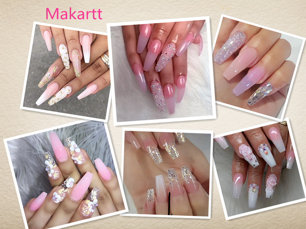 Makartt Poly Nail Extension Gel Kit Nail Enhancement Builder Gel Trial Kit Professional Nail Technician All-in-One French Kit 5