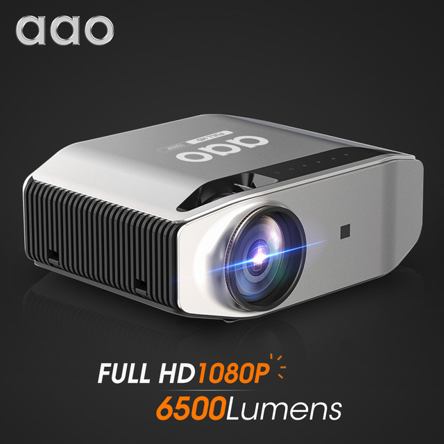 AAO YG620 Full HD Projector Native 1920 x 1080P 3D Proyector YG621 Wireless WiFi Smartphone Multi Screen Mini HD Home Theater