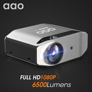 Image 1 - AAO YG620 projektor Full HD natywny 1920x1080P 3D Proyector YG621 bezprzewodowy WiFi Smartphone wieloekranowy Mini HD kino domowe