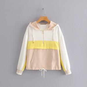 Image 1 - AOEMQ Neue Sommer Sport Gym Jacken Herbst Atmungsaktive Baumwolle Frauen Tops Jacken mit Kapuze Regen Schutz Tops Jacken Kleidung