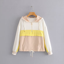 AOEMQ New Summer Sport Gym Jackets Fall Breathable Cotton Women Tops Jackets with Hooded Rain Protection Tops Jackets Clothing(China)