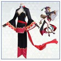 Shuten douji Fate/Grand Order Ghost Cosplay Costume Vintage Slim Robes Full Set