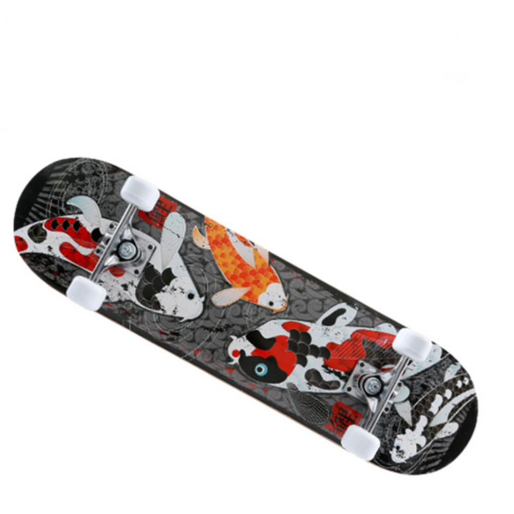 Free Shipping Four - Wheel Skateboard For Young Beginners Double - Tilt Road Scooters