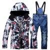 Men Ski Jacket Ski Pants Winter Warm Windproof Waterproof Outdoor Sports Snowboarding Brand Ski Coat Trousers Ski Suit for Women