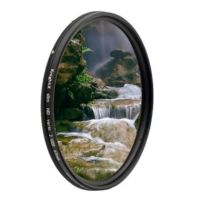 ND2 a ND1000 densidad Fader Variable ND filtro ajustable para canon sony nikon d600 60d 500d 49 52 55 58 62 67 72 77 mm ND400