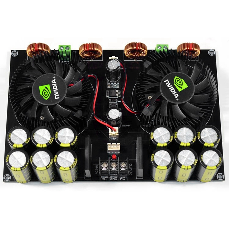 Tüketici Elektroniği'ten Fanlar'de FFYY Tda8954Th ses dijital güç amplifikatörü kurulu 420Wx2 yüksek güç iki kanal Fan Amplificador için 4 8Ohm hoparlör title=