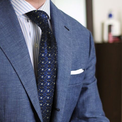 Мужские галстуки OGGA на шею для мужчин, 100% шелк, синий длинный жаккардовый галстук с уникальным рисунком, подарки для мужчин, деловые официал...