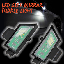 2Pcs  LED Under Mirror Puddle Light Rear mirror Lamp For VW Volkswagen Golf 7 VII variant Sportsvan Touran II all track
