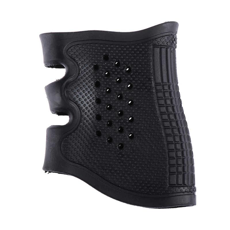 新しいタクティカル拳銃ピストルゴム保護カバーグリップグローブ戦術スリップ glock ホルスター狩猟アクセサリーアンチスリップ