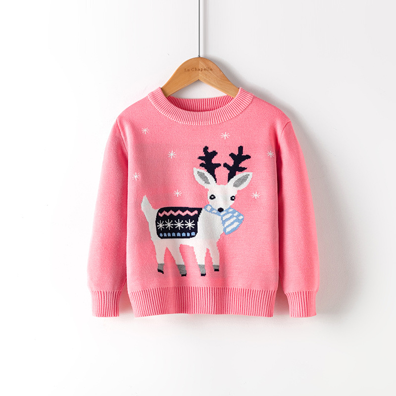 2021 Winter Boys Girls Sweater Christmas Costume Autumn Children Clothing Knitwear Boy Pullover Knitted Sweater Kids Sweaters 6