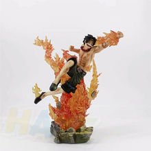 Anime One Piece Figure Statue Portgas. D. Ace PVC Action Figure Figurine Toys Model Collectioin GK In Box 18cm