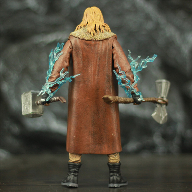 Avengers Endgame Fat Thor with Mjollnir Hammer and StormBreaker Axe Action Figure 7inch. 4