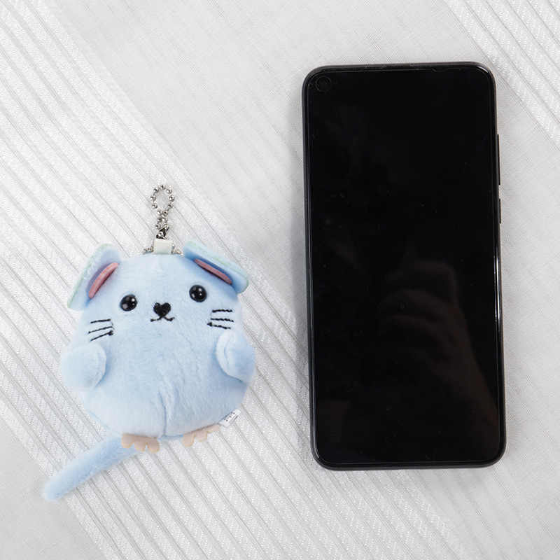 Plush keychain with Soft Toy Baby Hand Bell Bag Charm Cute Stuffed Fluffy Mouse Stroller Toy Child Room Decoration Newborn Toys