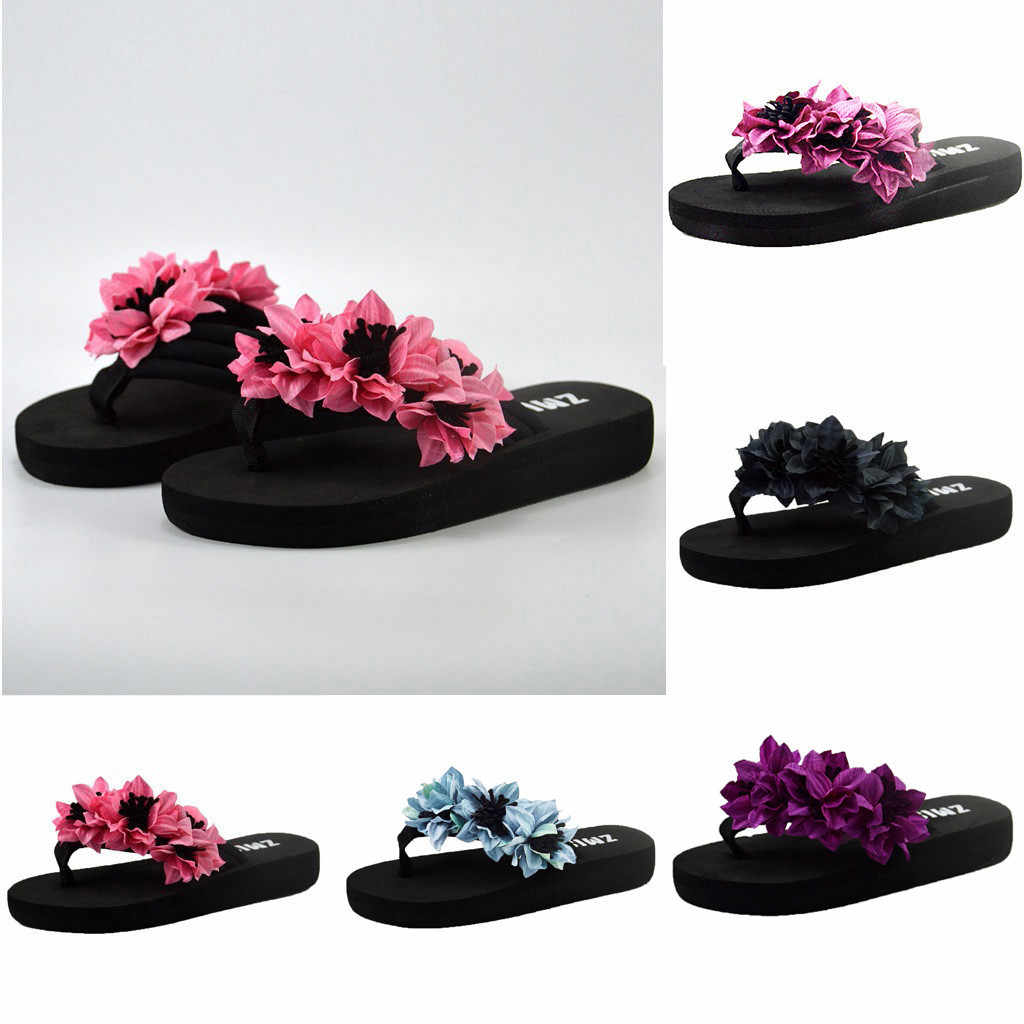 Slippers Women Shoes Muffin Flat Bottom Slippers Sandals Home Bathroom Beach Flip Flops Woman Shoes Тапочки Zapatos De Mujer