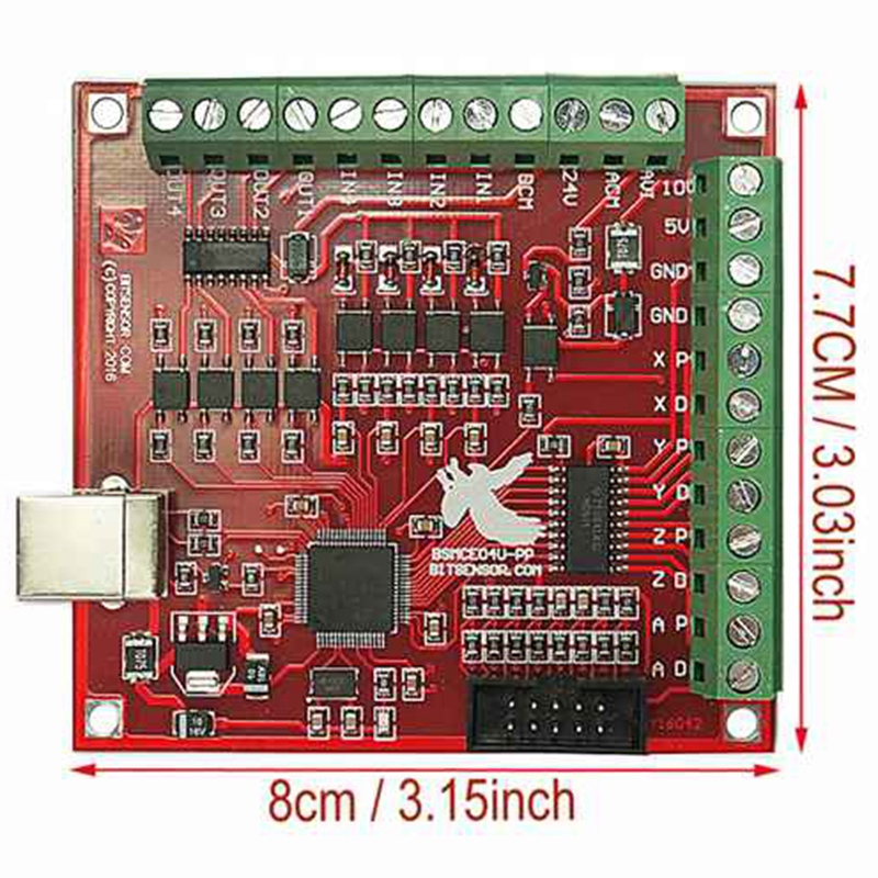 Cnc Usb 4 Axis Mach3 100 Khz Usb Motion Control Card Breakout Board 12-24V With Jog Handler For Cnc Engraving Free-Drive