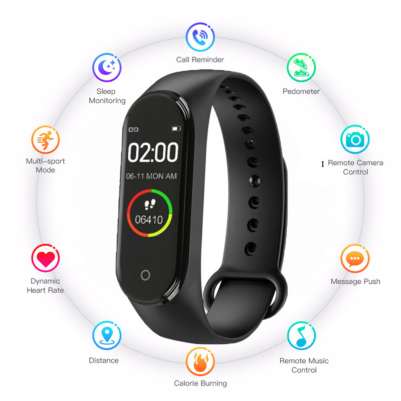 Health-Bracelet Label Blood-Pressure-Monitor Heart-Rate New-Watch Sports Smart M4 Women title=