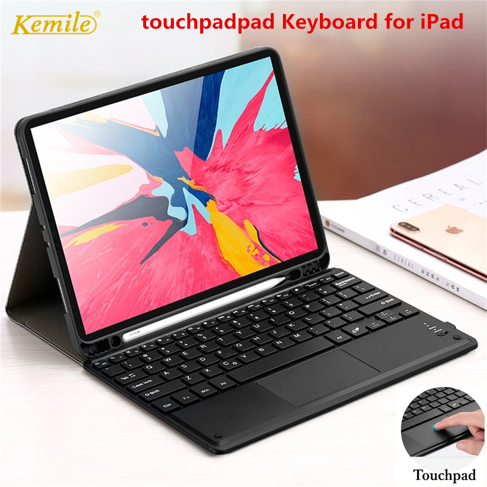 Touchpad Keyboard <font><b>Case</b></font> For <font><b>iPad</b></font> <font><b>mini</b></font> <font><b>5</b></font> 7.9 6th 9.7 2018 Pro 11 Air 3 10.<font><b>5</b></font> <font><b>Case</b></font> mouse keyboard for <font><b>iPad</b></font> 7th 10.2 <font><b>2019</b></font> keyboard image