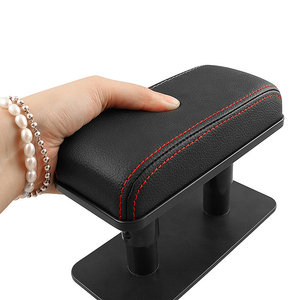 Image 4 - Auto Armlehne Ellenbogen Unterstützung Verstellbare Universal Tür Hand Arm Rest Anti müdigkeit Hand Rest Kissen Mini Leder Box Pad universal